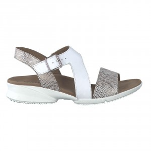 Sandales FIDJI camel/blanches